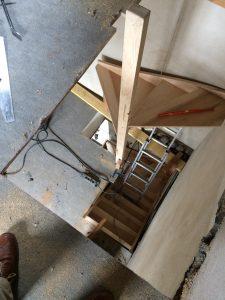 Cr ation et modification de tr mie escaliers delalleau - Ouverture tremie plancher bois ...